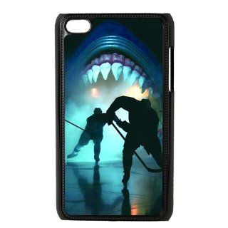 Ipod Touch 4 Case Colorful Printing Back Cover For Ipod 4 NHL San Jose Sharks Logo 05 Cell Phones & Accessories