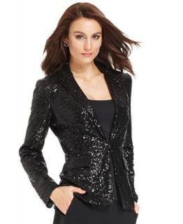 Anne Klein Jacket, Long Sleeve Sequin Blazer   Jackets & Blazers   Women