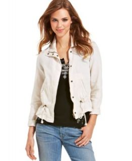 Lucky Brand Eyelet Denim Vest   Women