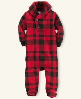 Ralph Lauren Baby Coverall, Baby Boys Plaid Coverall   Kids