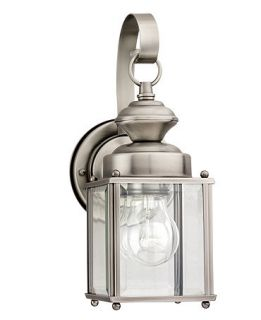 Sea Gull Outdoor Lighting, Jamestowne Brushed Nickel Wall Lantern 17   Lighting & Lamps   For The Home