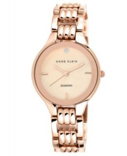Anne Klein Watch, Womens Crystal Accent Rose Gold Tone Bracelet 31mm AK 1262RMRG   Watches   Jewelry & Watches