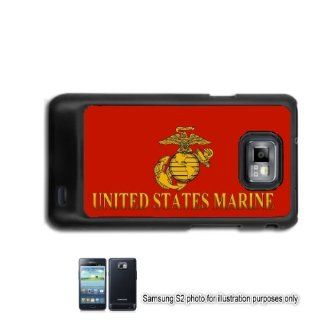 US Marines Marine Corp #2 Samsung Galaxy S2 I9100 Case Cover Skin Black (FITS AT&T AND STRAIGHT TALK MODELS ONLY) Cell Phones & Accessories
