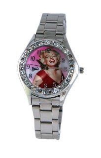 Marilyn Monroe Women's Round Shape Metal Band Watch Model #MM W123 Watches