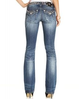 Miss Me Jeans, Bootcut Studded Medium Wash   Jeans   Women