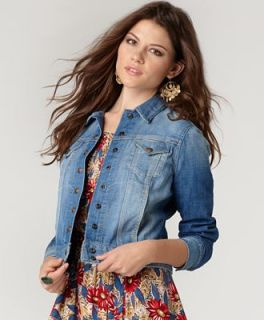 Lucky Brand Jeans Jacket, Sabrina Snap Up Denim, Rainstorm Wash   Jackets & Blazers   Women