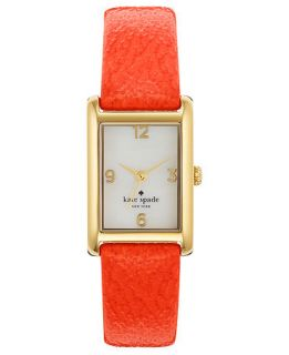 kate spade new york Watch, Womens Cooper Valencia Orange Leather Strap 32x21mm 1YRU0189   Watches   Jewelry & Watches
