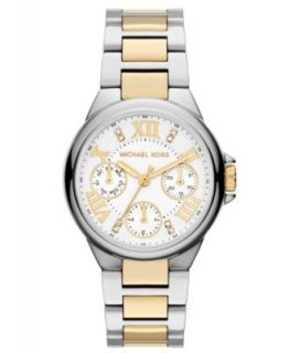 Michael Kors Womens Chronograph Ritz Tri Tone Stainless Steel Bracelet Watch 36mm MK5650   Watches   Jewelry & Watches