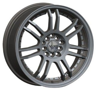 "Voxx TU 3 Gunmetal Wheel with Machined Undercut and Flange (17x7""/4x114.3mm) Automotive"