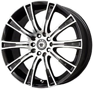 "Konig  Crown Black Wheel with Black Machined Face (16x7.5""/5x112mm) Automotive"