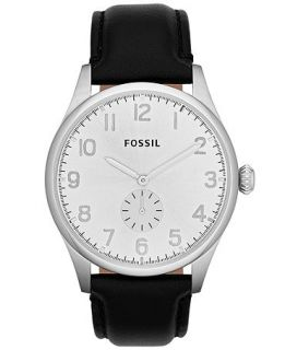 Fossil Mens Agent Black Leather Strap Watch 42mm FS4850   Watches   Jewelry & Watches