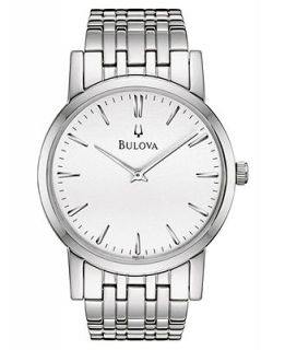 Bulova Mens Stainless Steel Bracelet Watch 38mm 96A115   Watches   Jewelry & Watches