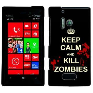 Nokia Lumia 928 Keep Calm Kill Zombies on Black Case Cell Phones & Accessories