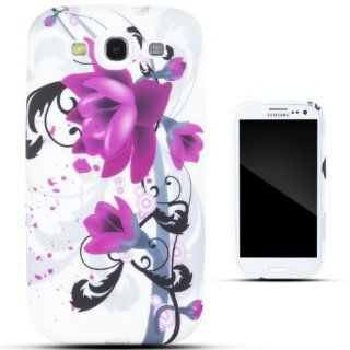 Zooky� Purple TPU flower Case / Cover / Shell for Samsung Galaxy S3 (i9300) Cell Phones & Accessories