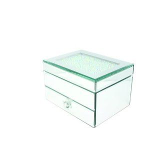 Danielle Crystal Topped Mirrored Jewelry Box, 7.5 Inch Beauty