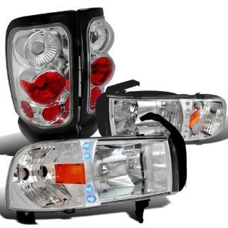 Dodge Ram 1500/2500/3500 Clear Led Drl Head Lights, Chrome Altezza Tail Lamps Automotive