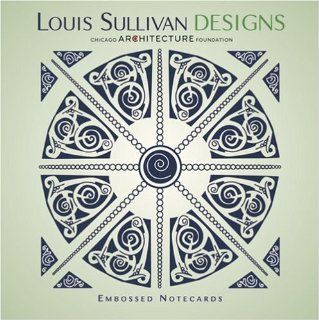 Pomegranate  Louis Sullivan Design Square Embossed Boxed Note Card Set (Pack of 2) Health & Personal Care