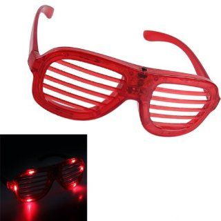 PROclearance Colored LED Flashing Blinking Shades Lights Glasses Red Led Shutter Rockstar Glasses Cell Phones & Accessories