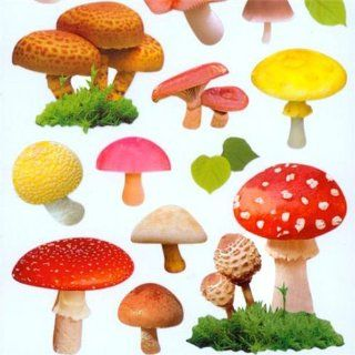 kawaii forest mushroom stickers by Mind Wave Toys & Games