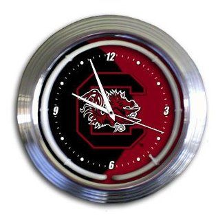 South Carolina Gamecocks College Varsity Neon Clock  Sporting Goods  Sports & Outdoors