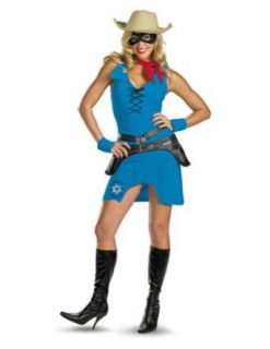 Adult Costume Sassy Lone Ranger Adult 8 10 Halloween Costume   Adult 8 10 Clothing