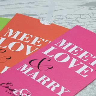 meet love marry wallet wedding invitation by love wedding print