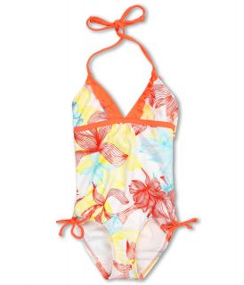 Hurley Kids Sea Fire One Piece Girls Swimsuits One Piece (White)