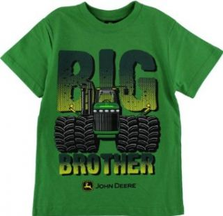 "John Deere ""Big Brother"" Green Boys Short Sleeve Tee Shirt 8 14 (14) Fashion T Shirts Clothing"