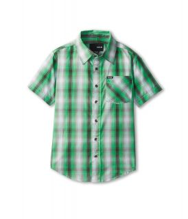 Hurley Kids Dalton S/S Woven Boys Short Sleeve Button Up (Green)