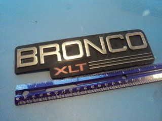 "FORD ""BRONCO XLT"" CHROME EMBLEM LOGO BADGE NAMEPLATE"