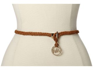 MICHAEL Michael Kors Skinny Braid Belt w/ Toggle Closure Womens Belts (Brown)