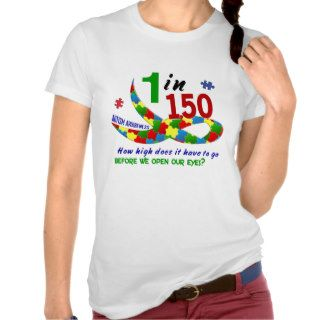 AUTISM AWARENESS 1 IN 150 HOW HIGH? TANK TOP