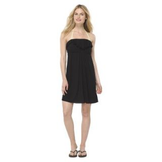 Juniors Strapless Cover up Swim Dress  Black M