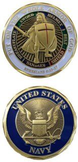 United States Navy Put on the Whole Armor Of God Challenge Coin