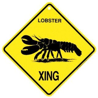 Lobster Xing caution Crossing Sign Gift   Yard Signs