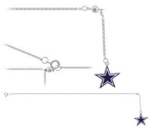"Dallas Cowboys NFL Anklet Ankle Bracelet (8"" Length) Cowboys Football Belly Button Rings Jewelry"
