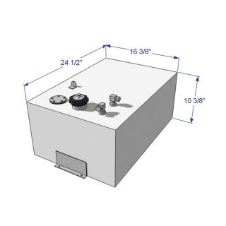 RDS General-Purpose Fuel Tank — 18-Gallon, Rectangle, Model# 59044  Auxiliary Transfer Tanks