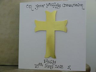 personalised holy communion/confirmation card by kitty's