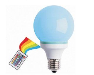 Creative Motion Multi Color Changing 1 watt LED Bulb with a Remote Controller   Led Household Light Bulbs