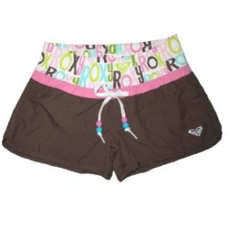 Girls Roxy CRAZY KIDS Casual Beach & Surf Summer Shorts   Brown & Pink (Size XL) Clothing