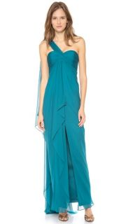 Notte by Marchesa One Shoulder Chiffon Gown