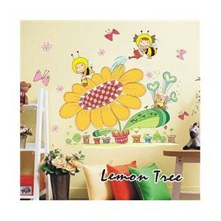 The creative cartoon children's room backdrop DIY sunflower living room, bedroom background wall stickers Electronics