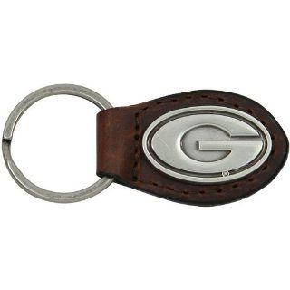 NCAA Georgia Bulldogs Leather Key Fob   Brown  Pet Sweatshirts