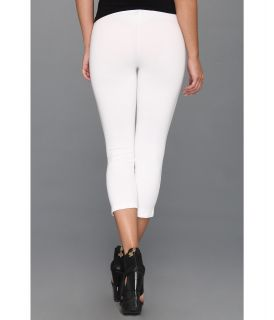 HUE Cotton Capri Legging White