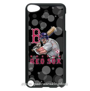 Ipod touch 5 MLB Boston Red Sox theme hard case cover designed by padcasekingdom Cell Phones & Accessories