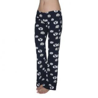 NCAA Brigham Young Cougars Womens Cotton Sleepwear / Pajama Pants Clothing