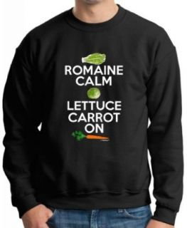 Romaine Calm Lettuce Carrot On Vegetarian Vegan Humor Premium Crewneck Sweatshirt Clothing