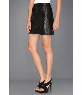 Nicole Miller Non Stretch Leather Skirt