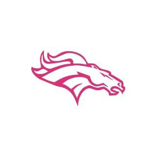 "Broncos Denver small 3"" Tall PINK vinyl window decal sticker"" Automotive"