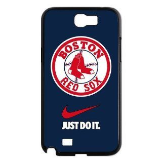 Personalized Desgin MLB Boston Red Sox Samsung Galaxy Note 2 N7100 Just Do It Cover Case Cell Phones & Accessories